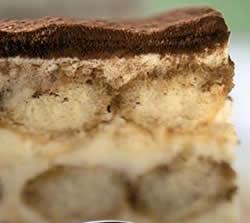 Tiramisu con crema mascarpone