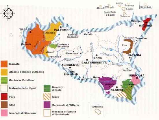 Vini doc docg e igt della sicilia mappa dei vini siciliani altavistaventures Image collections