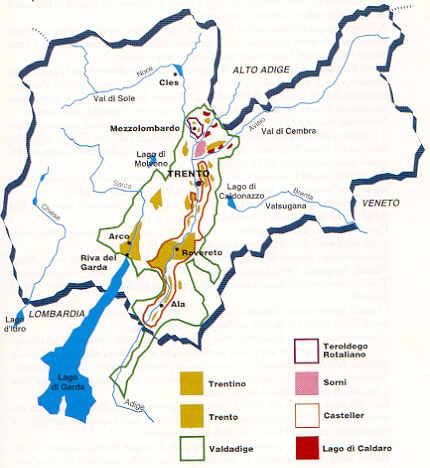 Cartina Stradale Del Trentino Alto Adige.Vini Doc Docg E Igt Del Trentino Alto Adige